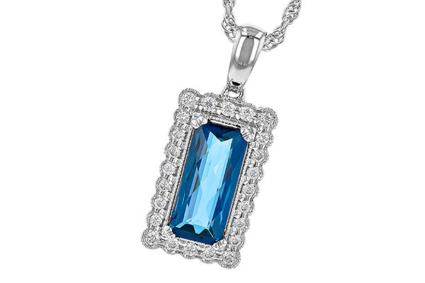 A208-98286: NECK 1.55 LONDON BLUE TOPAZ 1.70 TGW