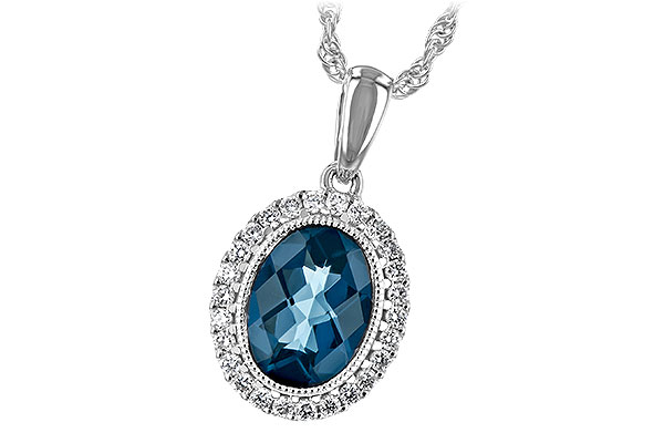 C208-01013: NECK 1.28 LONDON BLUE TOPAZ 1.41 TGW