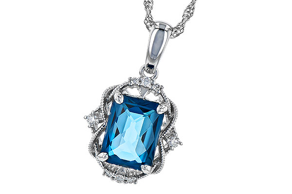 D291-66486: NECK 1.68 LONDON BLUE TOPAZ 1.73 TGW