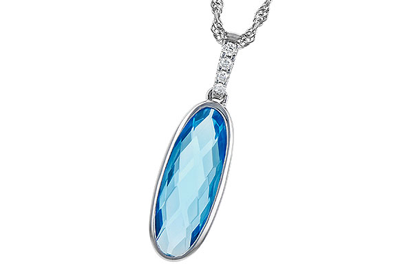 D291-66513: NECK 1.90 BLUE TOPAZ 1.93 TGW