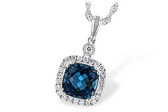 E208-01004: NECK 1.63 LONDON BLUE TOPAZ 1.80 TGW