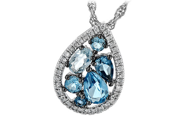 E208-06458: NECK 1.15 BLUE TOPAZ 1.30 TGW