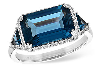 F208-92858: LDS RG 4.60 TW LONDON BLUE TOPAZ 4.82 TGW