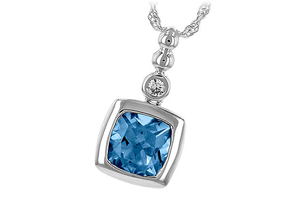 G208-04676: NECK 1.45 BLUE TOPAZ 1.49 TGW