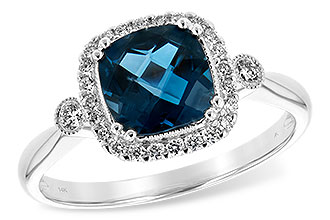 H208-01022: LDS RG 1.62 LONDON BLUE TOPAZ 1.78 TGW