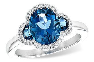K208-96512: LDS RG 3.04 TW LONDON BLUE TOPAZ 3.20 TGW