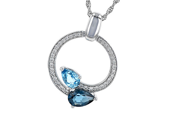 K208-97403: NECK 1.22 BLUE TOPAZ 1.40 TGW