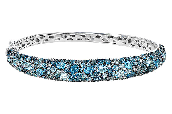 A208-93786: BANGLE 7.60 BLUE TOPAZ 7.85 TGW