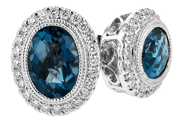 D208-01013: EARR 1.76 LONDON BLUE TOPAZ 2.01 TGW