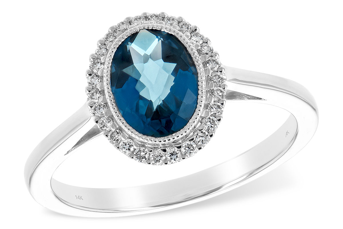 F208-01022: LDS RG 1.27 LONDON BLUE TOPAZ 1.42 TGW