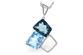 G207-15576: NECK 10.60 BLUE TOPAZ 10.73 TGW