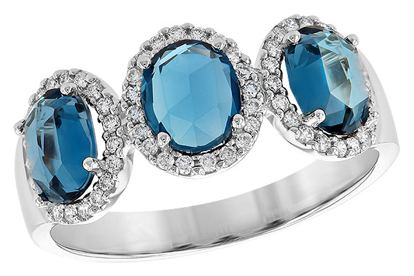 H208-91076: LDS RG 1.80 TW LONDON BLUE TOPAZ 2.02 TGW