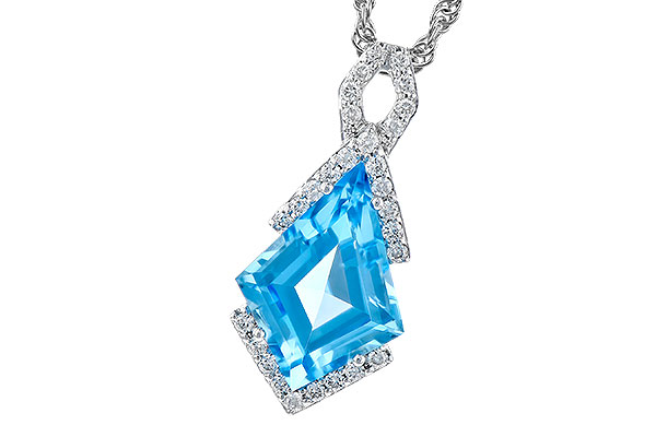 H291-65549: NECK 2.40 BLUE TOPAZ 2.53 TGW