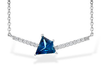K208-97376: NECK .87 LONDON BLUE TOPAZ .95 TGW