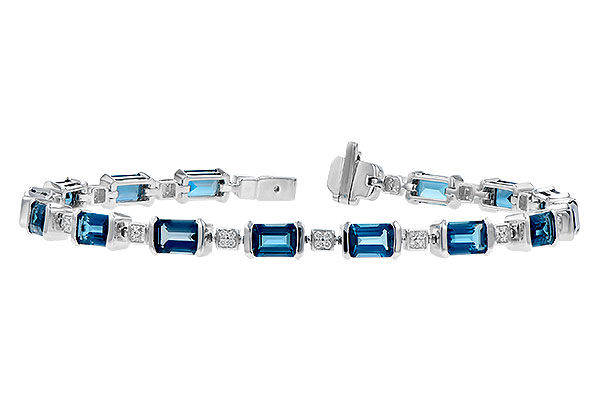 L291-65585: BRACELET 7.90 LONDON BLUE TOPAZ 8.13 TGW